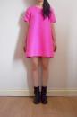 hot pink silk dress