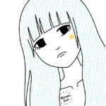Girl T-shirt star and tear