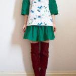 Christmas top and skirt set
